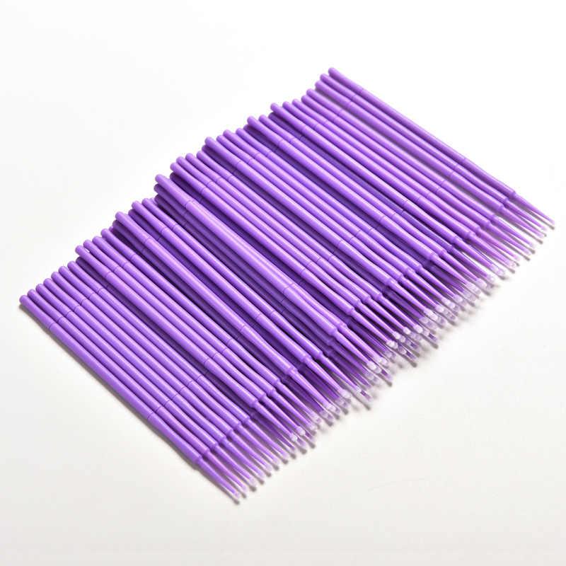 حار 100 قطعة/الحزمة الفردية لاش إزالة الوبر مسحة المتاح رمش تمديد أدوات مايكرو فرشاة أدوات التجميل ماكياج فرش