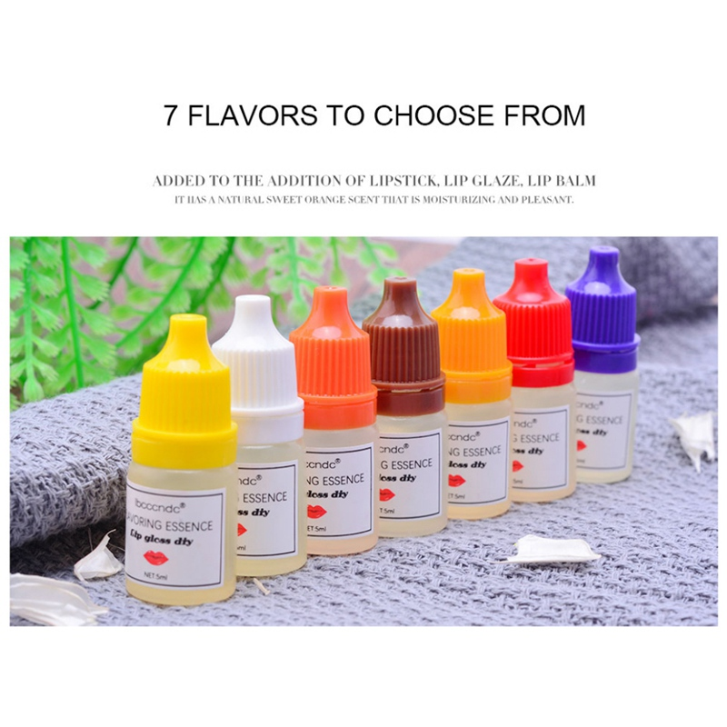 5ml DIY Fruit Flower Fragrance Flavoring Essential Food Grade Flavor Essence For Handmade Cosmetic Lip Gloss Lipgloss
