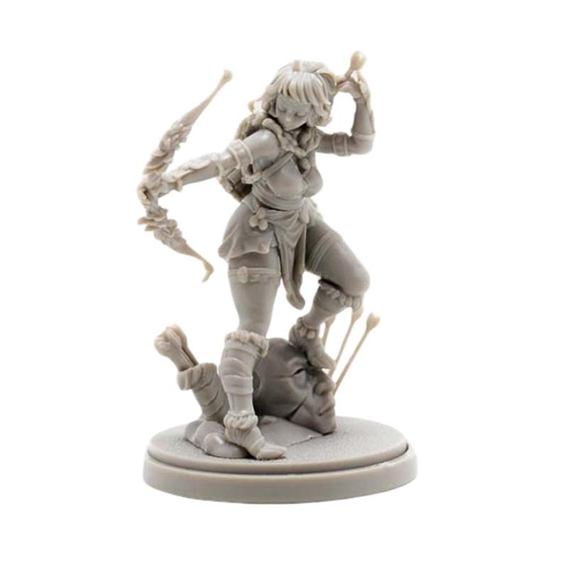 YUFAN <font><b>1/48</b></font> Beauty Soldier Goddess Series A-105 <font><b>Resin</b></font> Soldier 3cm Static Epoxy <font><b>Resin</b></font> Self-assembled Modle Toy Genuine Packaging image