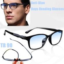 Óculos de leitura homem luz azul presbiopia óculos antifadiga computador feminino óculos unissex + 1 1.5 2.0 2.5 3.0 3.5 4.0