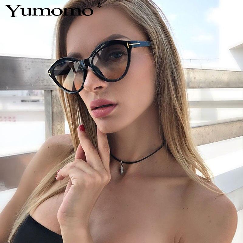 YUMOMO Occident Style Vintage Cat Eye Sunglasses Women 2019 Luxury Brand Fashion eye SunGlasses Female Lady Shades