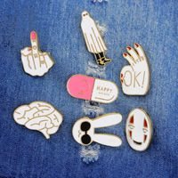 7 Pack Enamel Pin Set Punk Cute Brooches for Badges for Badges for Clothes Bags Backpacks Party Decoration Christmas Gift Y4QB