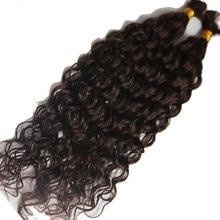 Tissage capillaire brésilien Remy naturel bouclé profond, pour tressage, 100% non traités, Extensions de cheveux humains, en vrac, 3 pièces/lot
