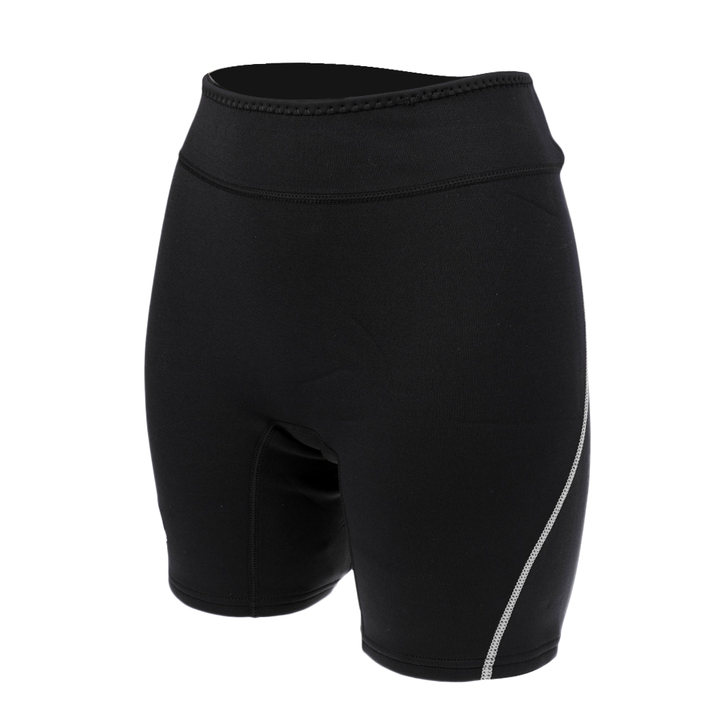 Womens Mens 1.5mm Neoprene Wetsuit Shorts Diving Snorkeling Scuba Surf Canoe Pants Trunks Swimwear