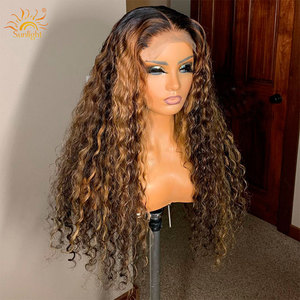Image 4 - 150 yoğunluk Su Dalga Peruk Tutkalsız Dantel Ön İnsan saçı peruk Ön Siyah Kadın Güneş Işığı Için koparıp Derin Kısım Remy Brezilyalı Peruk