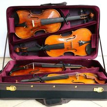 Высококачественный Pro Деревянный чехол для скрипки 4 шт. скрипки красного цвета 4,44 кг
