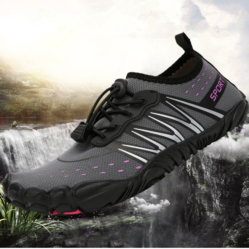 Quick-Dry Summer Beach Upstream Swimming Shoes Mens Women Breathable Wearproof Water Sports Shoes Elastic Non Slip Wading Shoes