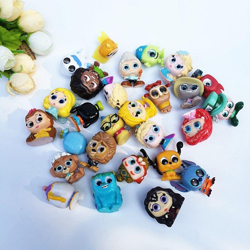 10 pçs/lote 2-3cm mini figuras de ação anime dos desenhos animados olhando vidro olhos doorables boneca para cápsula brinquedo princesa boneca crianças presente brinquedos