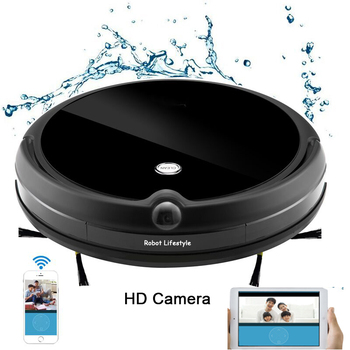 цена на Robot Vacuum Cleaner HD Camera for Home Automatic Sweeping Dust Sterilize Smart Planned Mobile App Remote Control