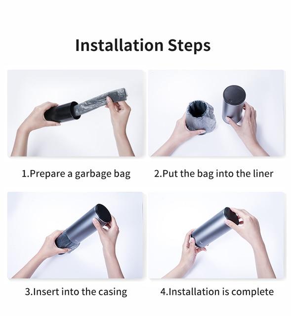 Baseus Alloy Car Trash Can Auto Organizer Storage Bag Car Garbage Bin Ashtray Dust Case Holder Auto Accessories 4