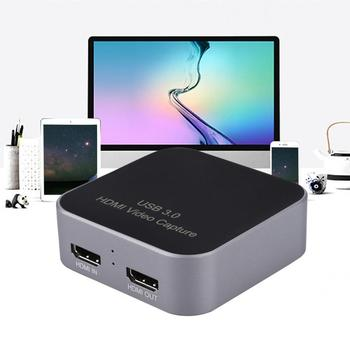 Acasis 1080P 60Hz Video Capture HDMI to USB Video Capture Card Streaming Live Stream Broadcast with MICinput For Winodws Mac
