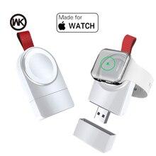 Bezprzewodowa ładowarka WK Mini do Apple Watch Series 4 3 2 1 przenośna szybka magnetyczna ładowarka USB bez kabla ładowarki szybka stacja dokująca