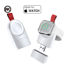 WK Mini Wireless Charger for Apple Watch Series 4 3 2 1 Portable Fast Magnetic USB Charger No Charger Cable Quick Charge Dock