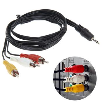 3.5mm Jack Plug to 3 X RCA Plugs Cable Male to Male Audio Video AV Converter 1.2M 4FT for Camcorder/