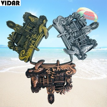 VIDAR Three-dimensional Metal Refrigerator Magnet for Souvenirs In China's Urban Tourist Attractions In Sanya, Hainan image