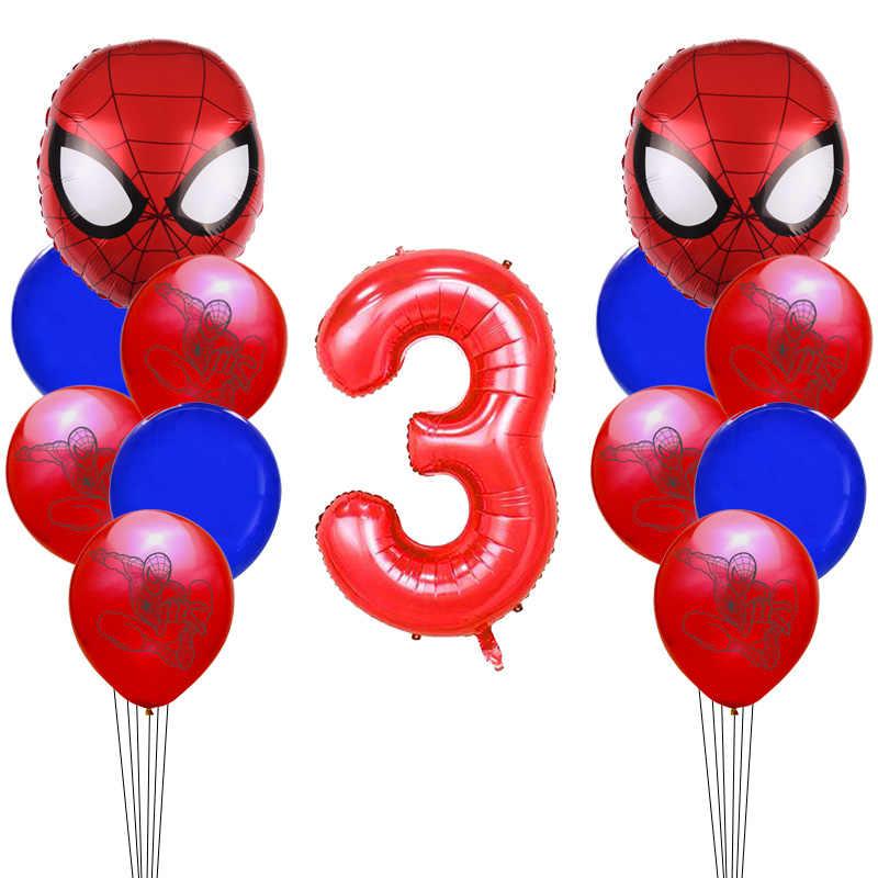 بطل اللاتكس بالون مجموعة الكبار الاطفال حفلة عيد ميلاد الديكور استحمام الطفل ديكور الألومنيوم احباط بالونات Globos