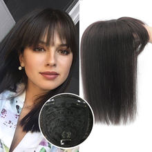 "8"" 10"" 12"" Black Brown Human Hair Topper Wig For Women 13*13 Lace Base With Clip In Hair Toupee Remy Hairpiece Natural Color(China)"