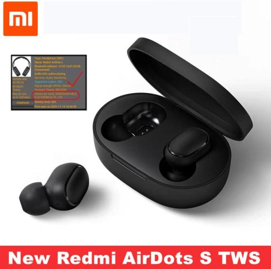 Redmi xiaomi airdots s tws originais de áudio bluetooth sem fio de controle ia fone de ouvido de jogos com microfone re