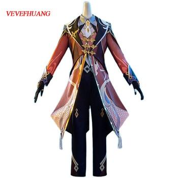 VEVEFHUANG Kосплей Anime Genshin Impact Zhongli Game Suit Uniform Zhong Li Cosplay Costume Halloween Party Outfit Xmas Carnival 1