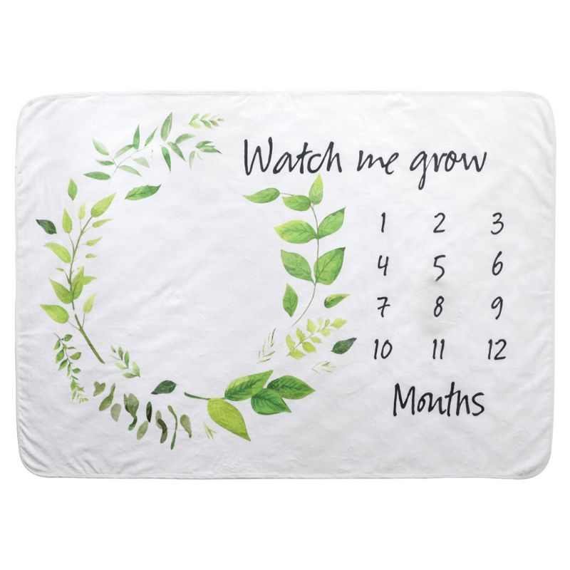 Baby Monthly Milestone Blanket Photo Props Newborn Boys Girls Shower Gifts Photography Pad