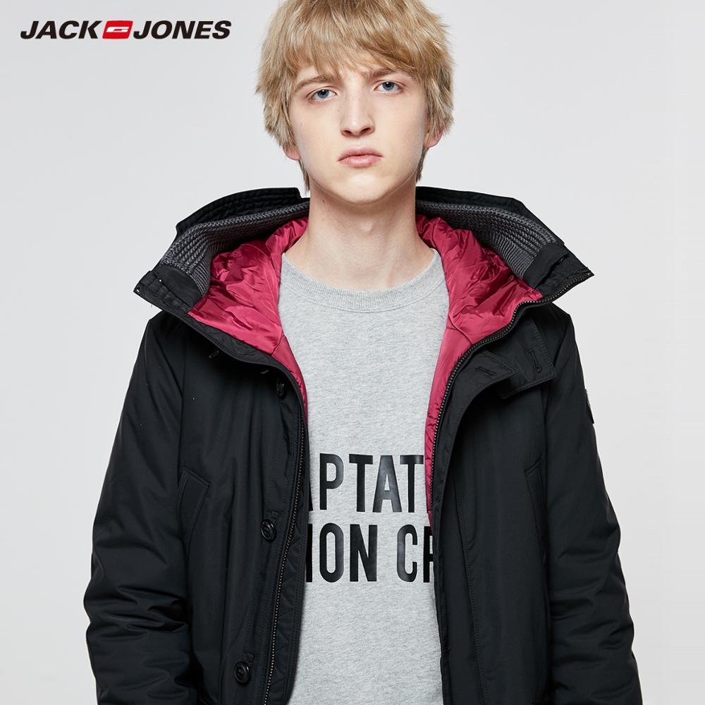 Image 3 - JackJones Men's Winter Hooded Parka Coat Long Jacket Luxury Overcoat 2019 New Menswear 218309511-in Parkas from Men's Clothing