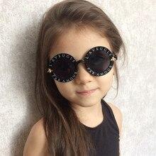 GD12 Steam punk Kids Sunglasses Boys Girls Luxury Vintage Children Sun glasses Round Fashion Glasses Oculos Feminino Accessories