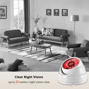 Image 3 - Купольная камера видеонаблюдения AZISHN, водонепроницаемая металлическая камера безопасности, Full HD, 3MP, SONY IMX307, 1080P, POE, ONVIF, H.265AI