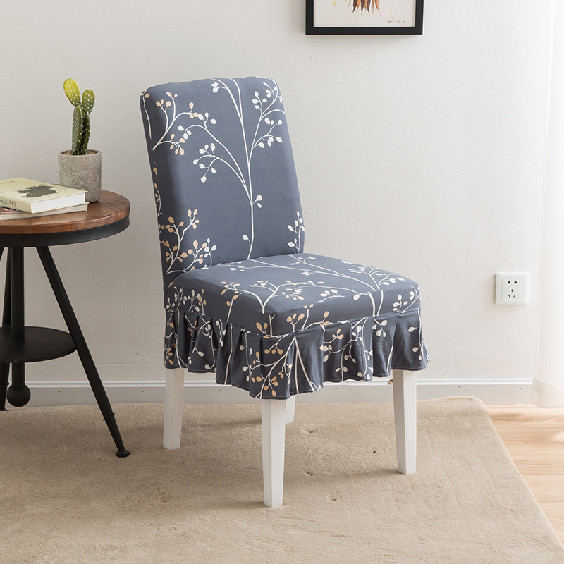 Surprising Us 4 33 30 Off Home Elastic Printing Chair Covers Stretch Skirt Chair Cover Office Chair Cover Stool Set Hotel Restaurant Long Chair Coverings On Uwap Interior Chair Design Uwaporg