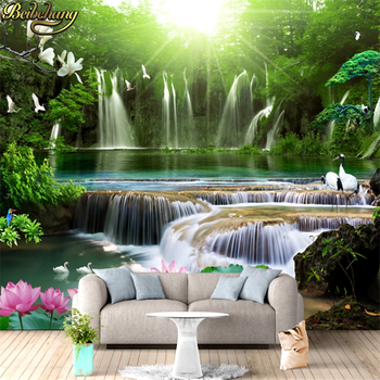beibehang landscape Photo Wallpaper Mural Modern background wall paper romantic Custom running water mural wallpaper for walls romantic mediterranean style background wall professional production mural wholesale wallpaper mural poster photo wall