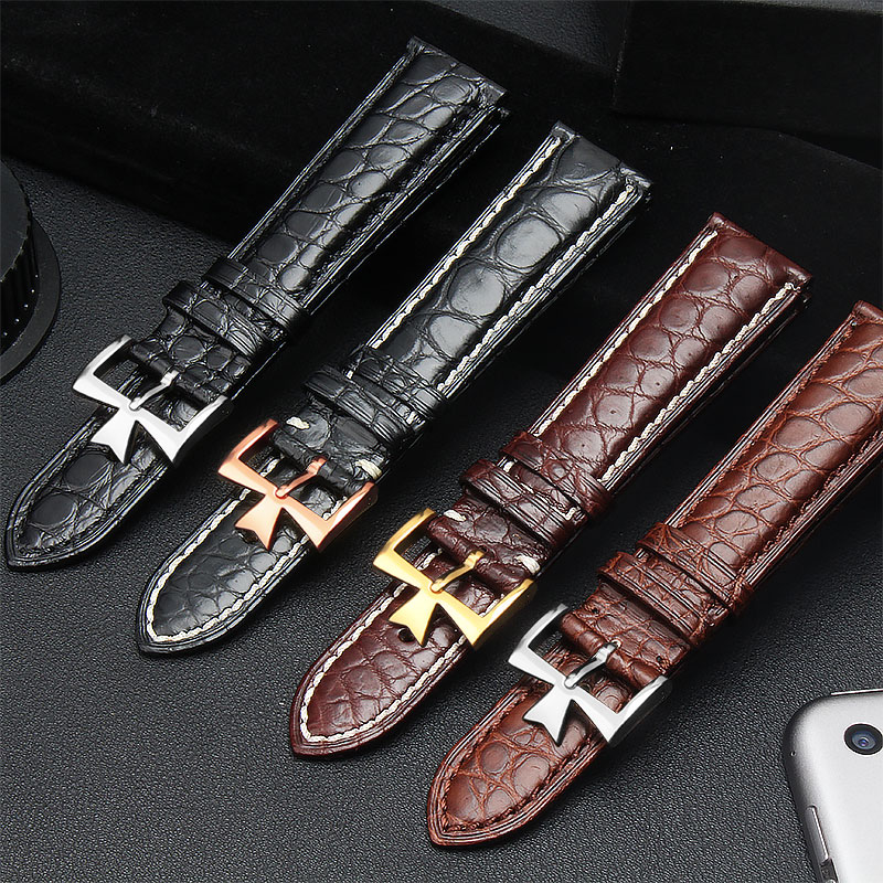 For Vacheron Constantin Male Watch Crocodile Leather Strap VC Inherit Art Master Series Genuine Leather Strap 20mm.