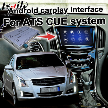 Android / carplay interface box for Cadillac ATS XTS CTS XT5 2014 GPS navigation video interface mylink CUE system by Lsailt