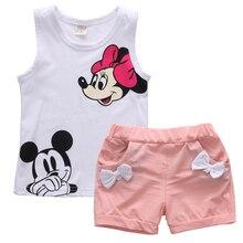 Summer Cute Cartoon 2PCS Kids Baby Girls Floral Vest Top Sho