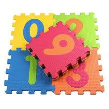 Детский игровой коврик, мягкий детский Поролоновый ковер, мозаичный пол, 10 шт., 30*30 см, коврик-пазл, развивающий коврик для ползания