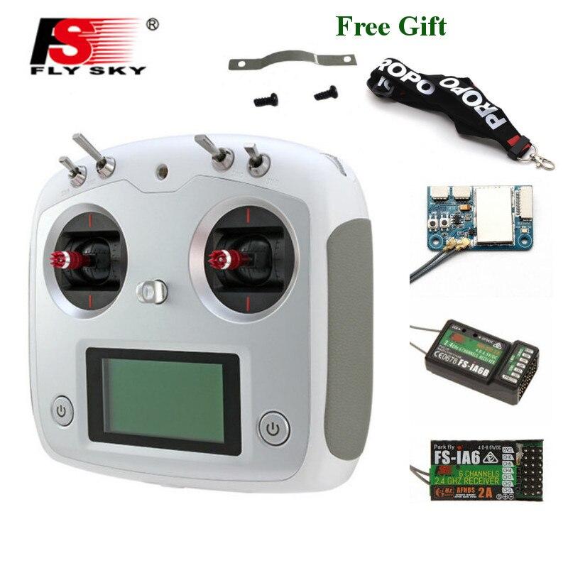 Oyuncaklar ve Hobi Ürünleri'ten Parçalar ve Aksesuarlar'de FLYSKY FS i6S i6S 2.4G 10CH AFHDS 2A merkezleme gaz verici tutucu ile iA6B A8S iA10B alıcı RetailBox RC FPV drone title=