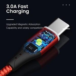 Image 5 - Amzish 3A Magnetico Micro USB Cavo Per il iPhone Samsung Dati Tipo C Cavo USB Magnetico Tipo di Caricatore Veloce c per Cavo di Ricarica Telefono