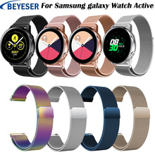 Strap For Samsung Galaxy Watch Active Milanese loop Watchband stainless steel for Gear S2 sport band Bracelet galaxy watch 42mm milanese loop watchband for samsung gear s2 classic strap for stainless steel metal watch band sm r732 sm r735