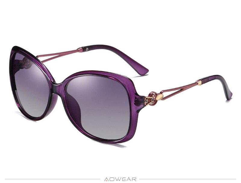 Luxury Womens Sun Retro Gradient Shades Female Oversized Women Sunglasses AOWEAR Eyewear Polarized Lady For Glasses 2020 Brand