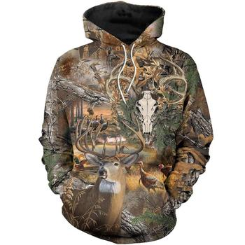 Deer Hunter Camo Full 3D Print - Sweatshirt, Hoodie, Pullover 1