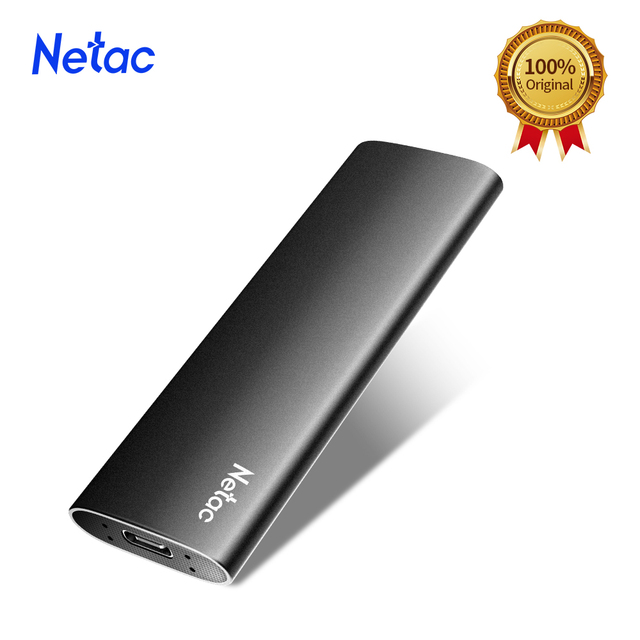 Netac ZSlim Portable External SSD 1TB 500GB 250GB SSD Hard Drive HDD Solid State Drive Type-c USB 3.1 Compatible for Laptop PC 2