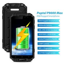 New version Poptel p9000max rugged cellphones power bank phone 9000mah 4G LTE smart android phone 4G