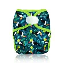 Miababy, один размер, тканевый чехол для подгузников для маленьких мальчиков и девочек, подходит для детей 3-15 кг, детские подгузники, водонепроницаемые и дышащие