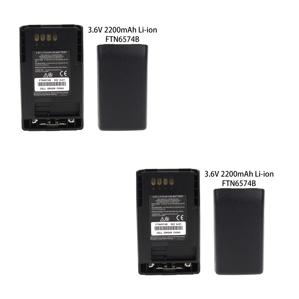 2X 2200mAh Walkie Talkie Battery For Motorola MTP850 MTP850S MTP830 MTP810