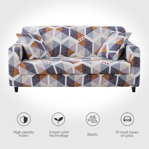 Image 1 - Elastic Sofa Cover for Living Room Spandex Armchair Cover  Magic Printed Flower Couch Cover  1/2/3/4 Seater 4 Size Available