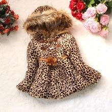CYSINCOS/ г.; зимние куртки для детей; верхняя одежда; плотные теплые пальто для малышей с леопардовым принтом; куртки для девочек; детская одежда с капюшоном