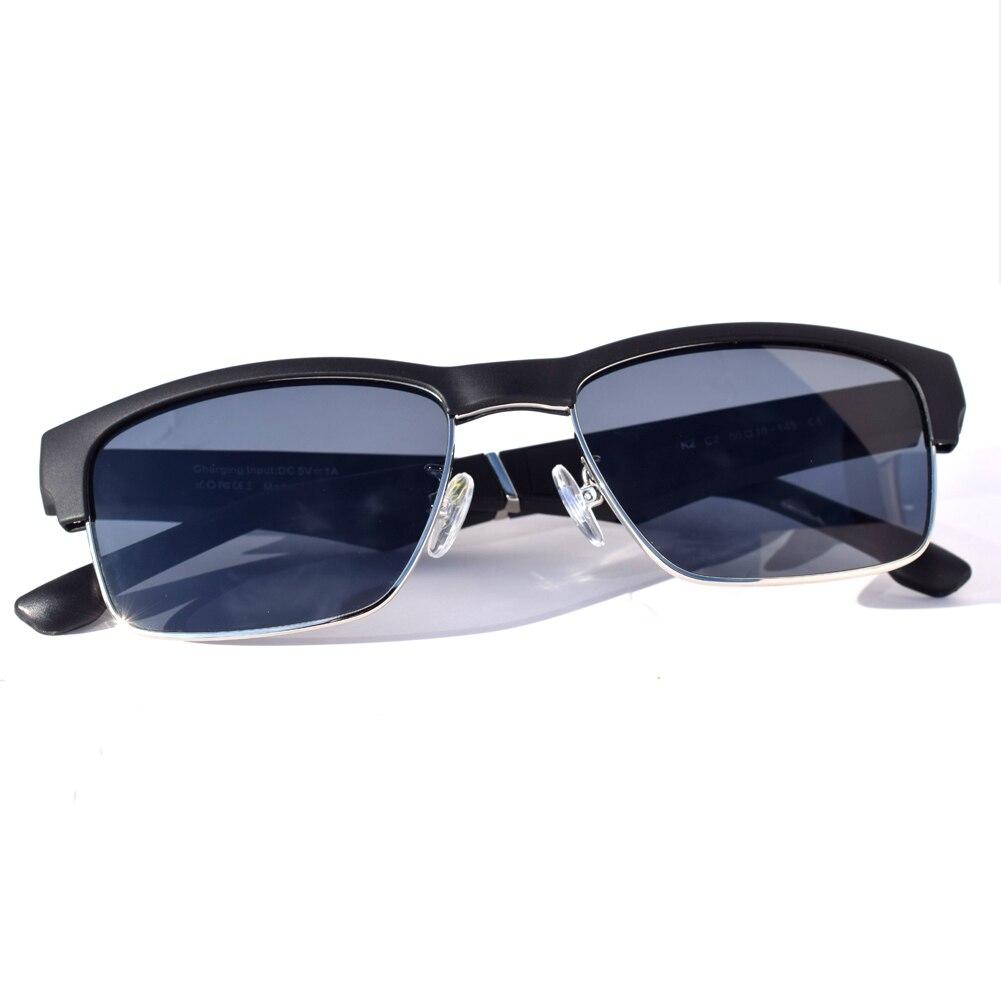 Drahtlose Bluetooth Smart Gläser Wasserdicht Bass Hifi Gläser Schwarzen Rahmen Silber Rand Touch Hände-Freies Anruf Musik Sonnenbrille