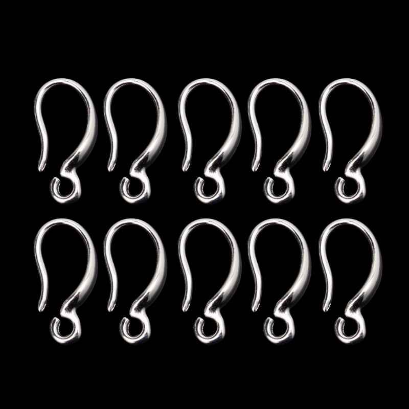 10 Pcs S925 Silver Plated French Ear Hook Ear Wire Earrings DIY Jewelry Findings