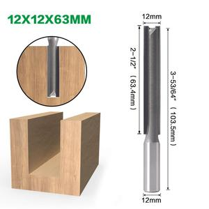 Image 5 - 1pcs 12mm Shank 2 flute straight bit Woodworking Tools Router Bit for Wood Tungsten Carbide endmill milling cutter