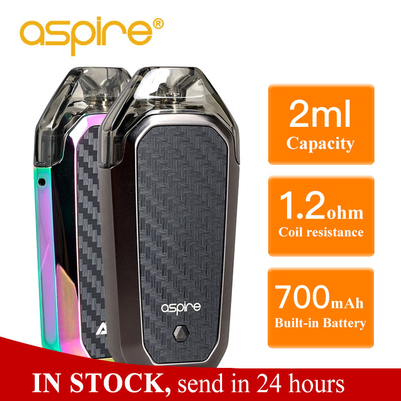 Heißer Aspire AVP AIO Kit Vape 2ml Kapazität Pod 1.2ohm Nichrome Spule Eingebaute 700mAh batterie Elektronische Zigarette Vapeador vaper