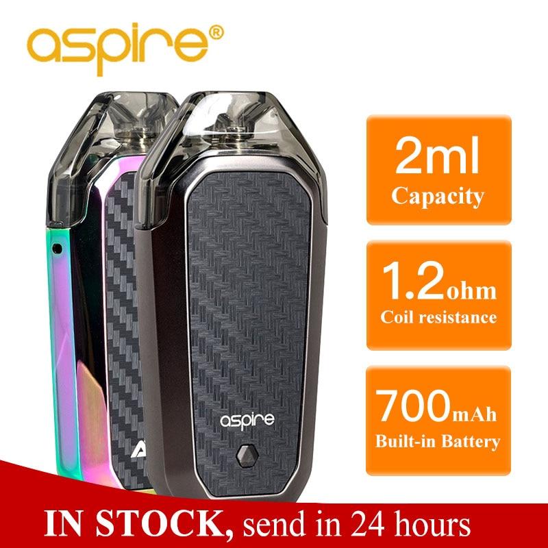 Hot Aspire AVP AIO Kit Vape 2ml Capacity Pod 1.2ohm Nichrome Coil Built-in 700mAh Battery Electronic Cigarette Vapeador Vaper
