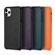 PU Leather Phone Case for IPhone 11 Office Back Case for IPhone 11 Pro Slim Protective Case Cover for IPhone 11 Pro Max shell protective super slim plastic back case for iphone 5 deep pink